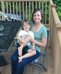 Lisa Stevens and daughter