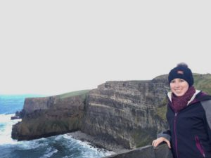 Sophie at the Cliffs of Moher, Ireland