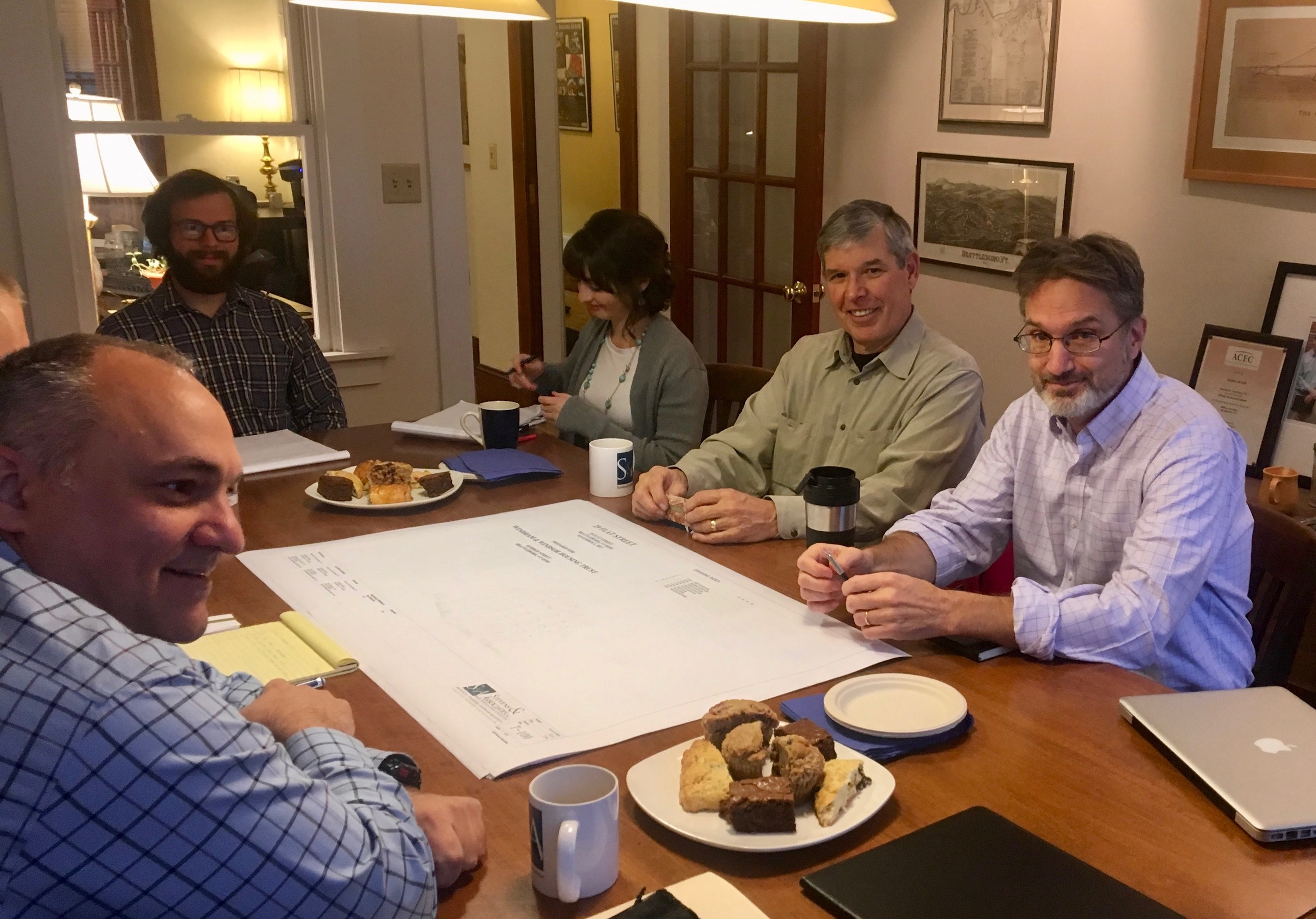 Participants At A Mass Timber Design Charrette Held At Stevens & Associates In Brattleboro, Vermont.