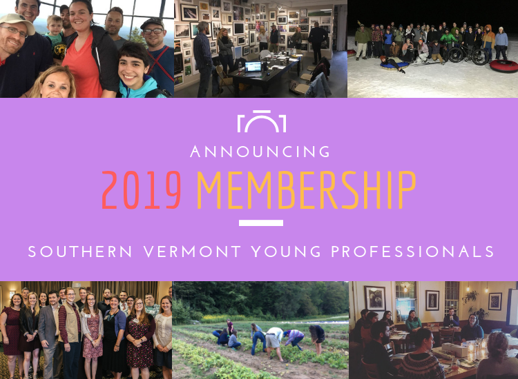 Announcing The 2019 Southern Vermont Young Professional's Membership!