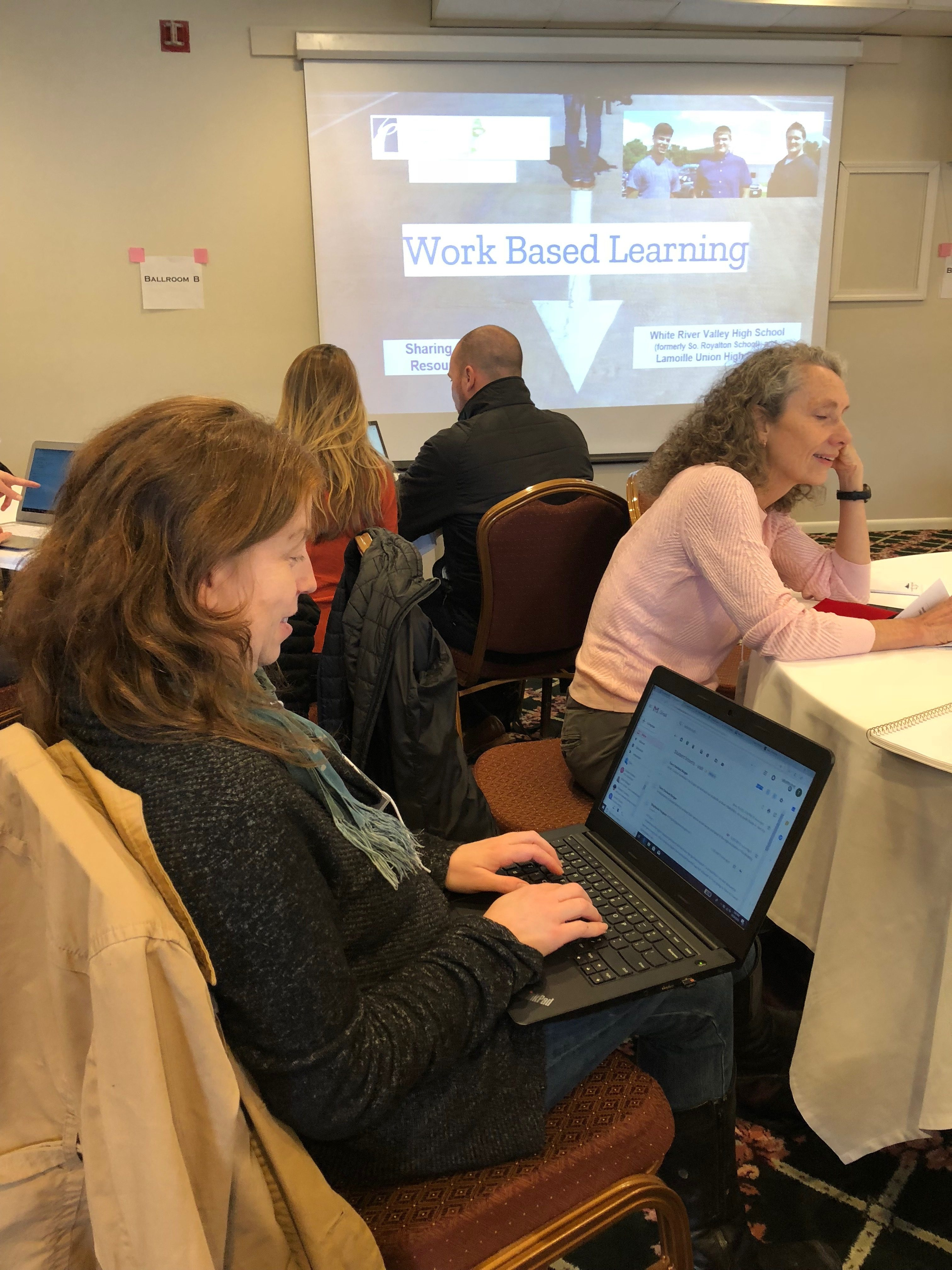 Terry Davidson-Berger, Work-Based Learning Coordinator At Leland & Gray High School Gathers Resources From A Successful Program Launched At White River Valley High School.
