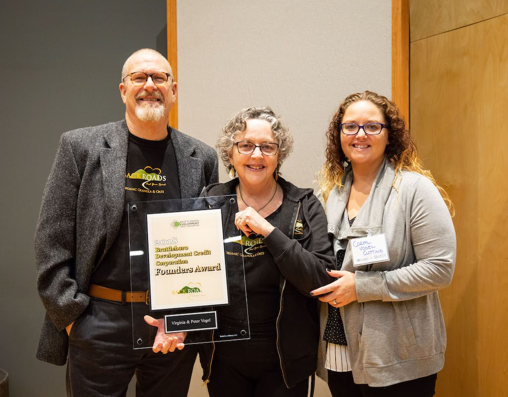 Peter And Virginia Vogel, Founders Of Back Roads Granola, Received The BDCC Founders Award