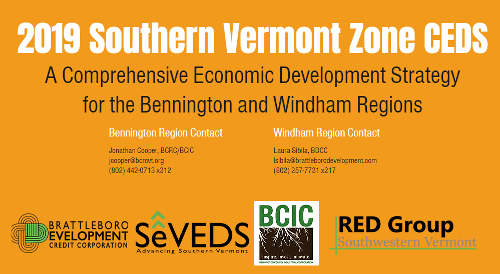 Public Presentation of Southern Vermont's 5 year economic plan happening January 7th