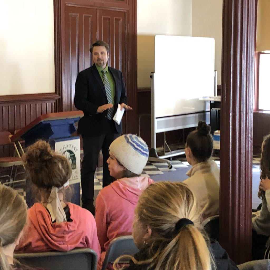 Chris Winters, Deputy Secretary Of State, Talks With Students About Elections, State Record Keeping, And Civic Engagement.
