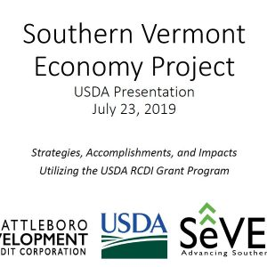 Southern Vermont Economy Project Final Presentation