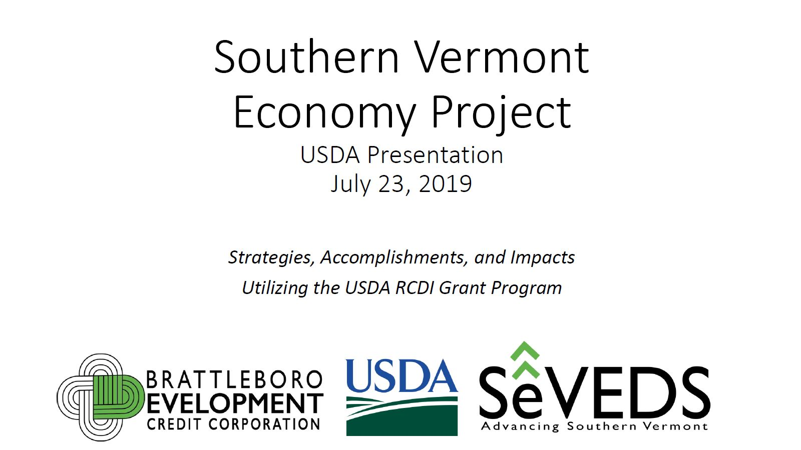 Southern Vermont Economy Project Final Presentation