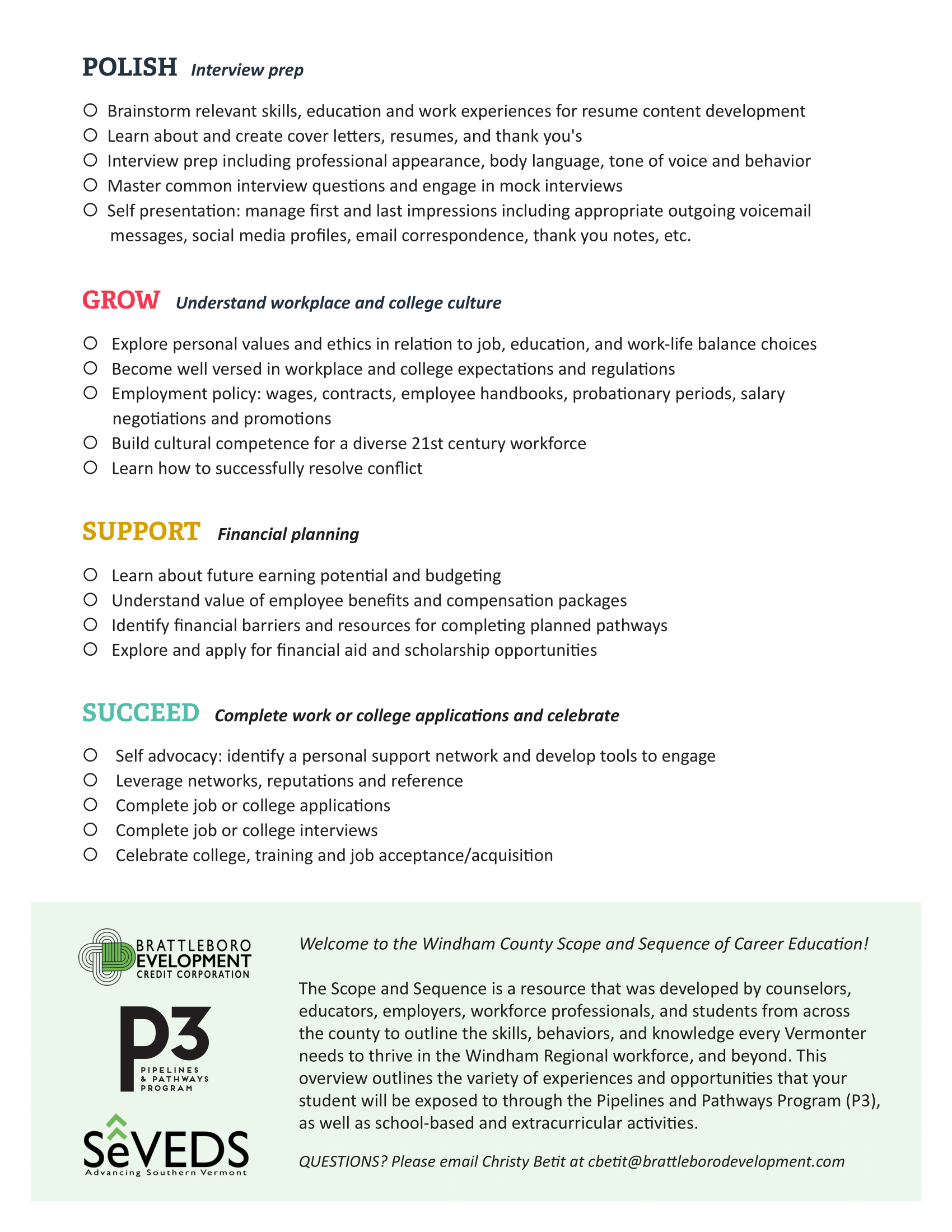 The P3 8 Steps to Your Future Success Educator Worksheet