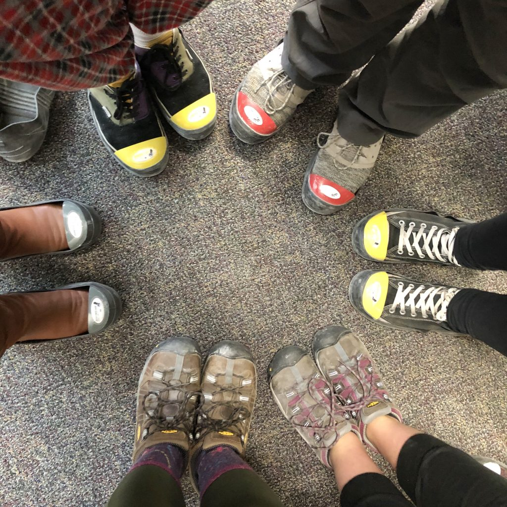 Students Wear Special Shoes On The Floor At Fulflex.