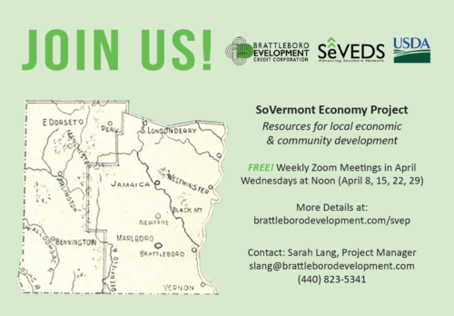 Southern Vermont Economy Project Launches Webinar Series Highlighting Resources for Local Economic and Community Development in Response to COVID19