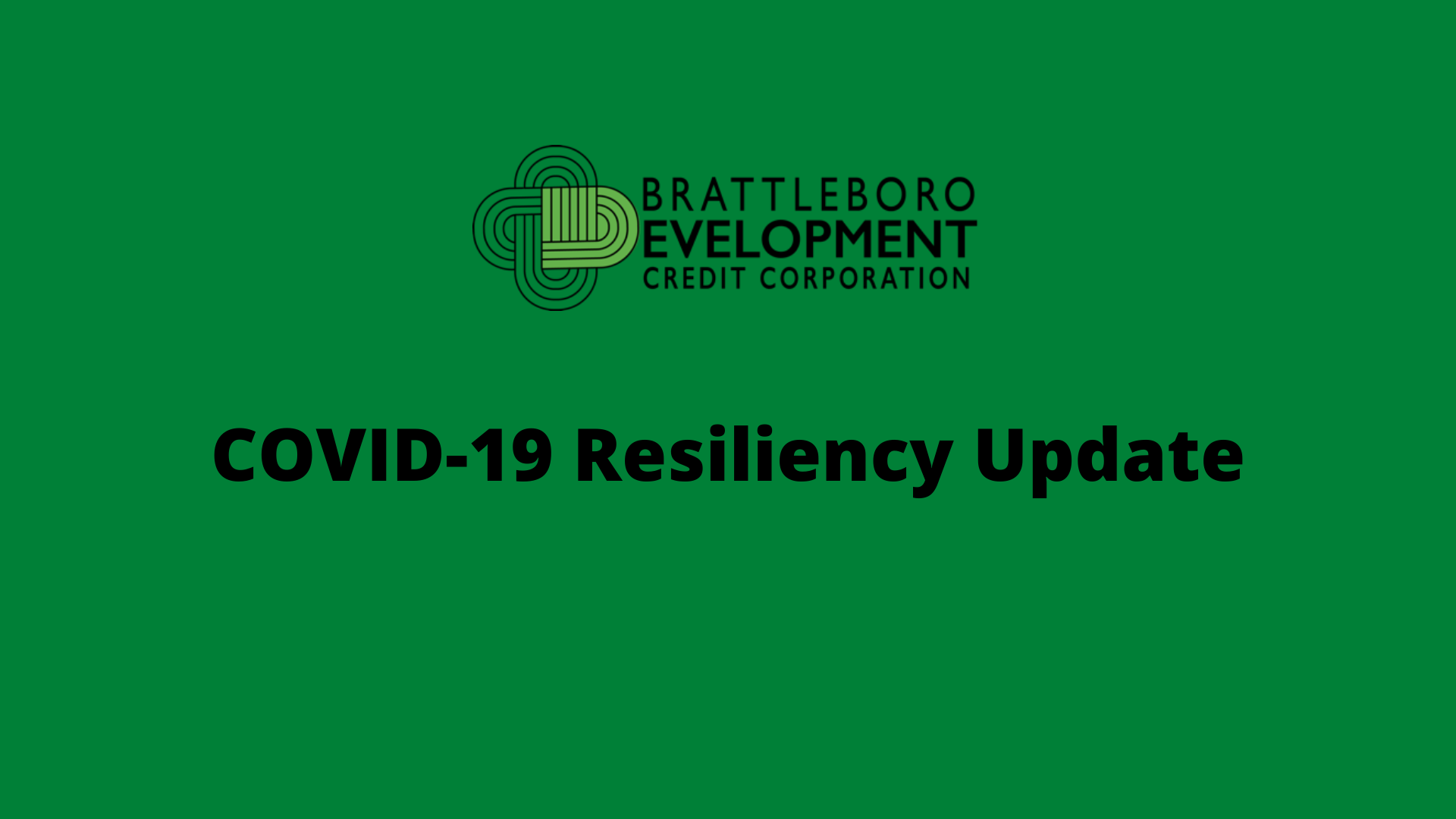 COVID-19 Resiliency Update 4/13/20