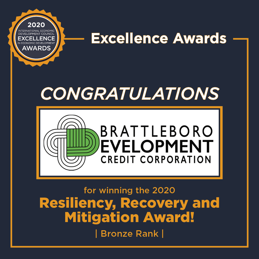 Brattleboro Development Credit Corporation's Southern Vermont Economy Project Receives Excellence in Economic Development Award from the International Economic Development Council