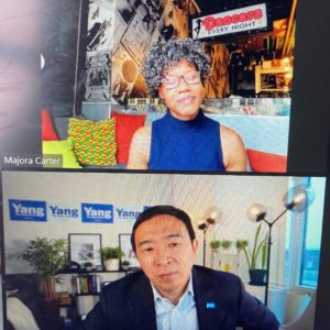 Summit Keynote Speaker, Majora Carter, Joins Andrew Yang To Discuss Community Resiliency And Urban Planning